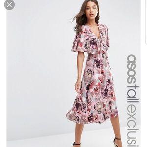 NWT ASOS TALL Floral midi dress SZ 0